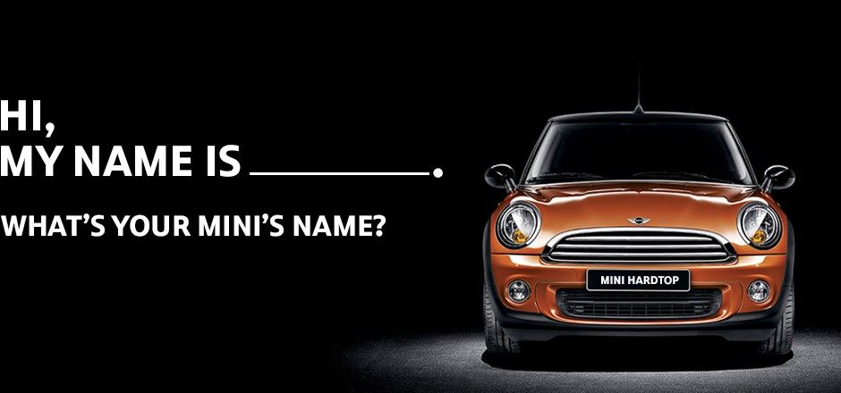 Browse Other Mini Owners Creative Names For Their Cars You Can
