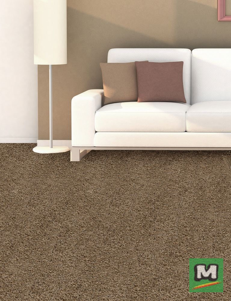 Designer's Image Endurance Frieze Carpet features an attached pad for easy installation with no added stretching!
