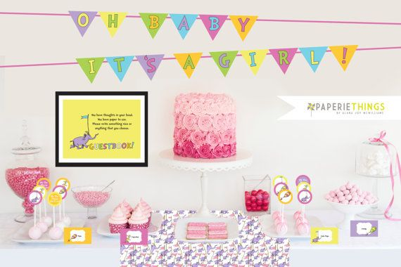 Oh the Places You'll Go Printable Party Pack, Dr. Seuss Themed Baby Shower