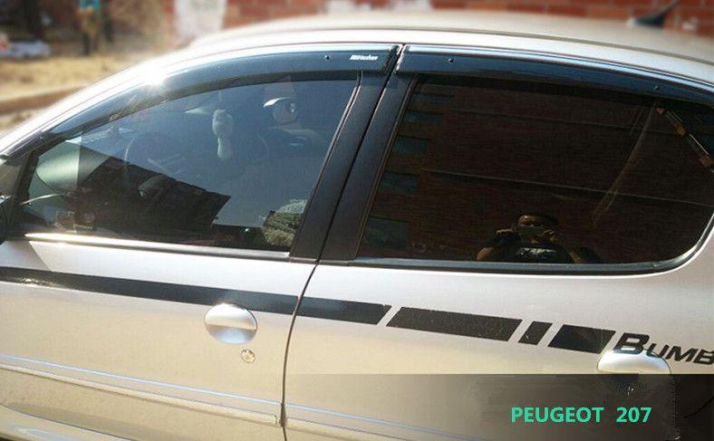 FIT FOR PEUGEOT 207 SIDE WINDOW RAIN DEFLECTORS GUARD VISOR WEATHER ...
