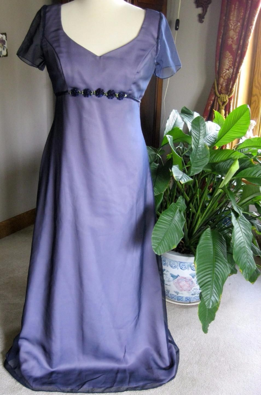 Cool great jordan purplelilac polyester long formal prom dress sz