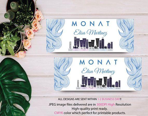 Monat Marketing Kit Custom Monat Business Card Monat Hair Card Design Facebook Cover Monat