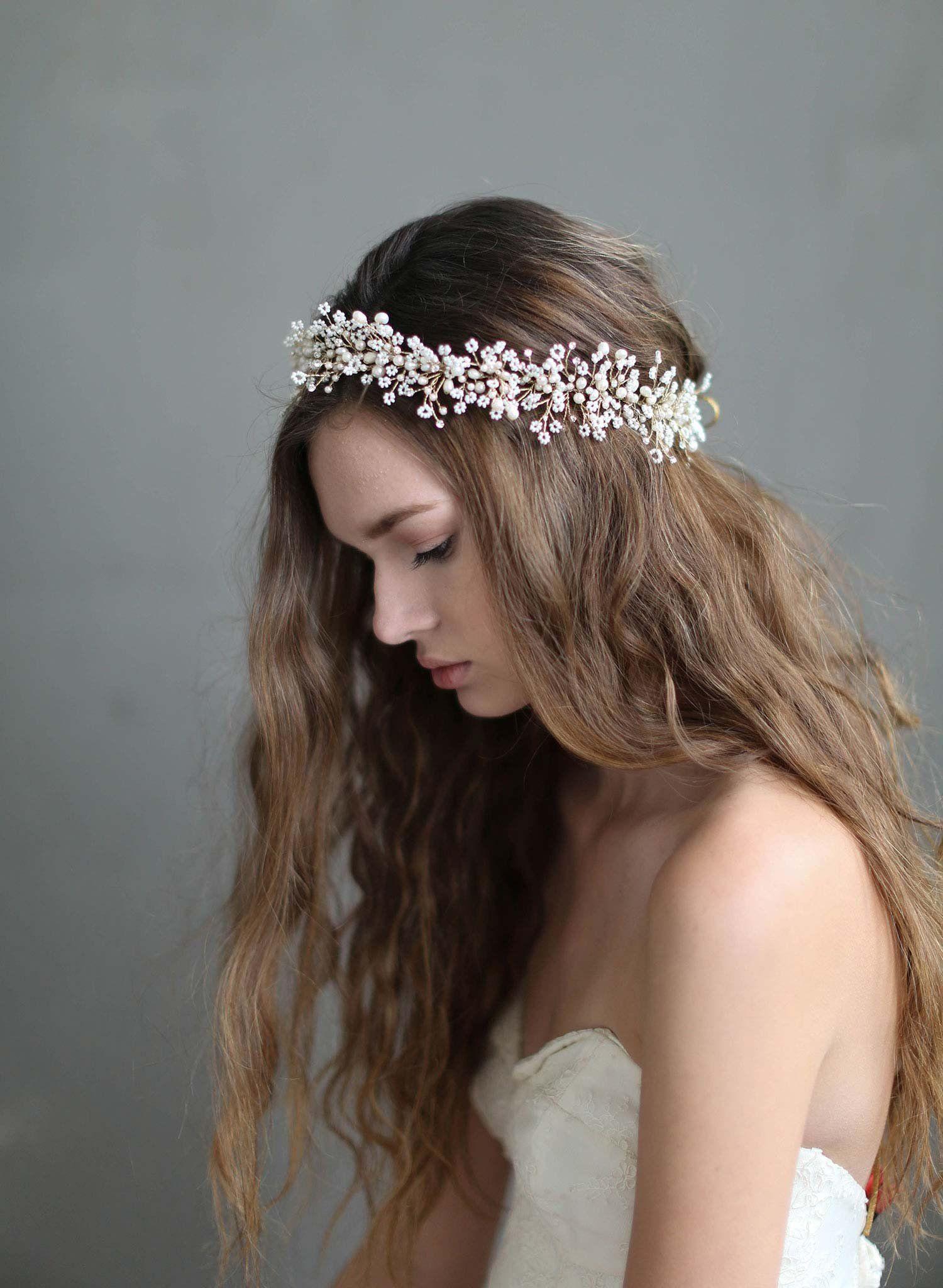 Bridal hair accessories babys breath - Babys Breath Hair