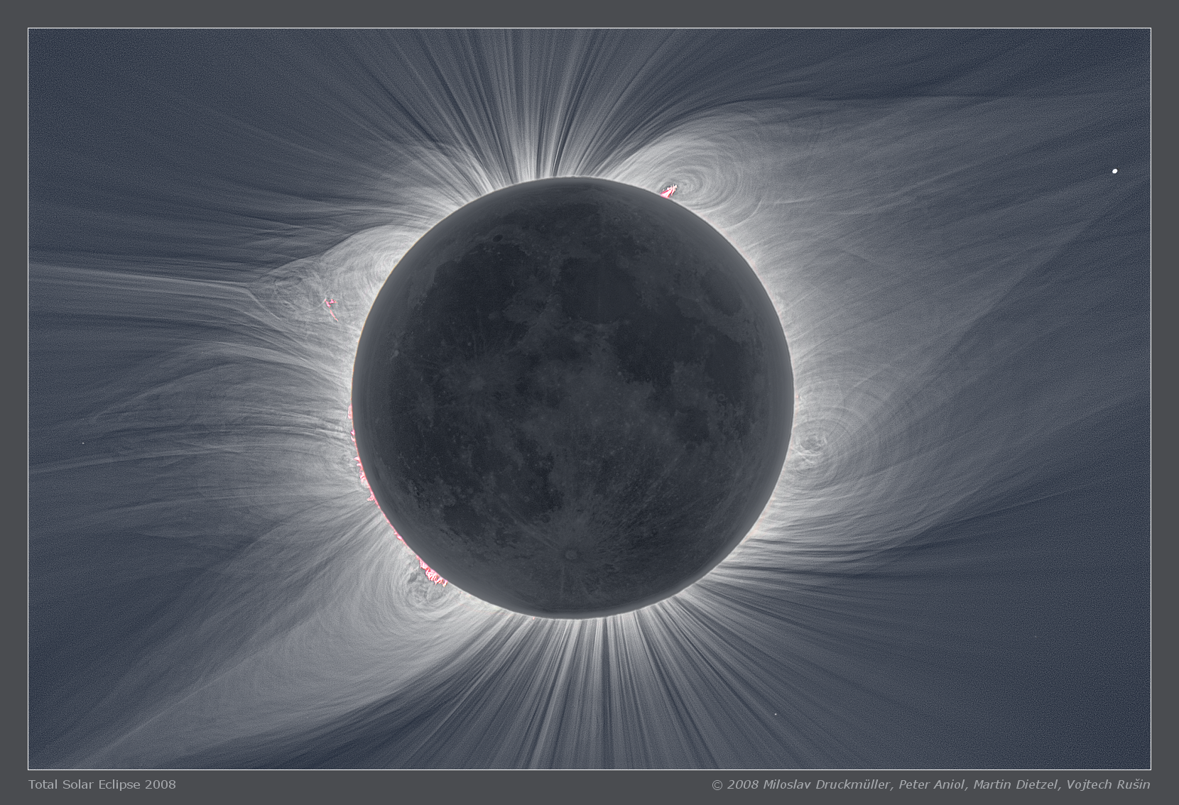 This High Resolution Image Shows Not Only The Inner Corona In The Delicate Details But Surprisingly The Lunar Surface Solar Eclipse Solar Corona Eclipse Images