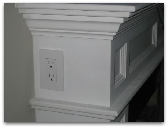 outlet in mantel for christmas lights or lamp want need love rh pinterest com