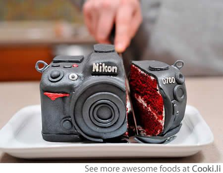 Camera cake See More at http://www.cooki.li/ -