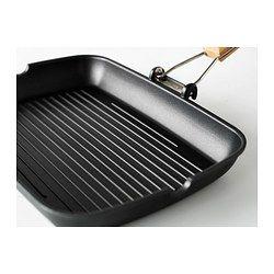 Grill pan, black, 14 ¼x10 ¼