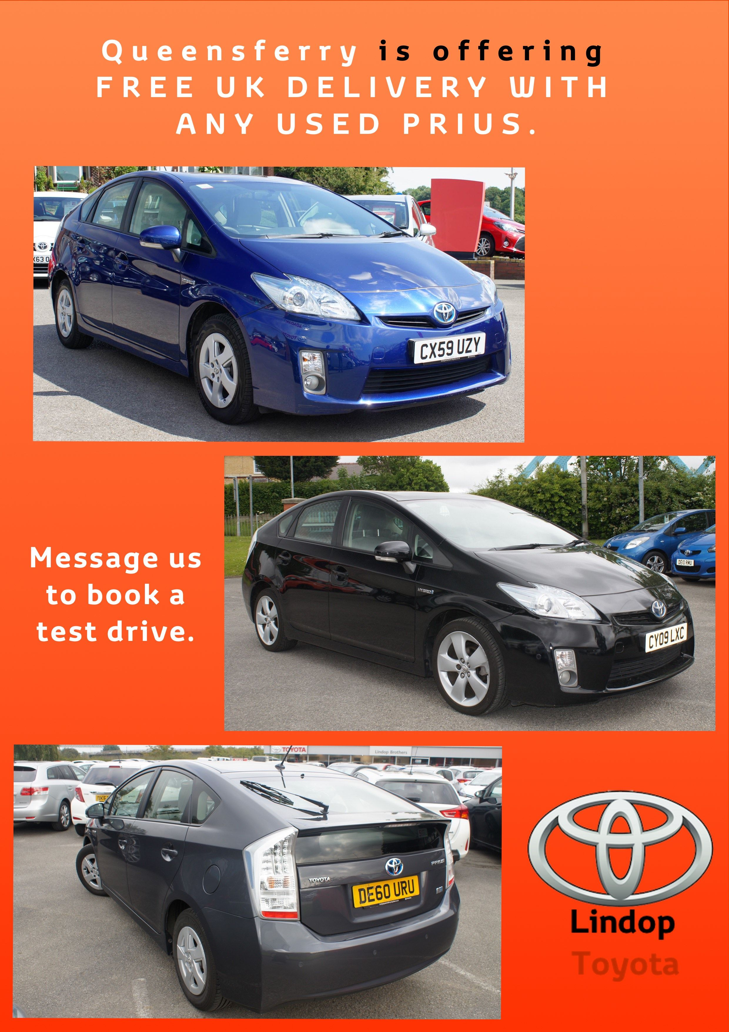 Toyota Prius With Free Uk Delivery From Lindop Toyota Queensferry