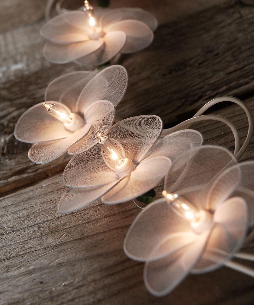 White Flower String Beautiful Lights Wedding Ideas Pinterest