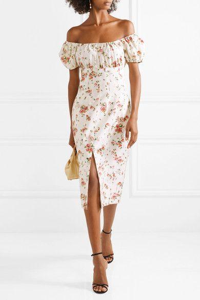 3cfa2f41fd32 Brock Collection | Dayna floral-print silk-satin midi dress |  NET-A-PORTER.COM