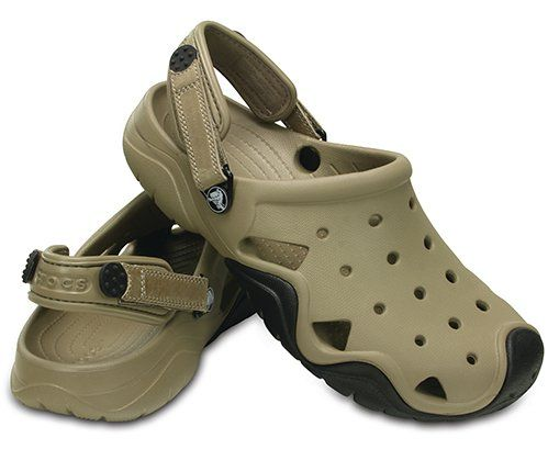 3987ae2b80be9c Mens Crocs(tm) Swiftwater Clogs Khaki Black Khaki Black