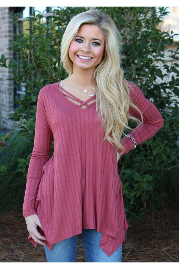 Sweet On You Tunic- Dusty Pink