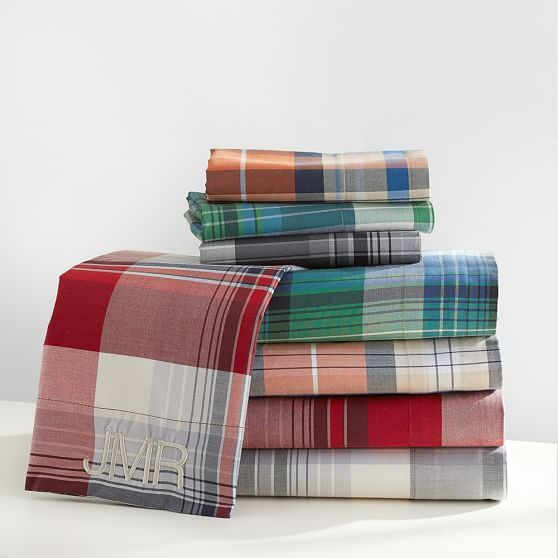 Fieldhouse Plaid Pottery Barn Sheets: Field House Plaid Sheet Set 2 Pillow Cases - $32