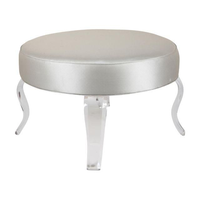 Image Of Round Ottoman With Lucite Legs Napoli Drive