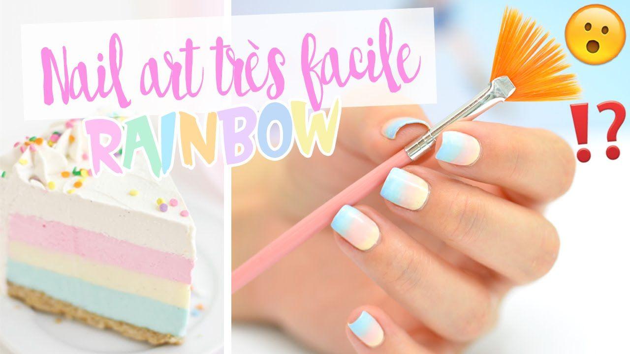 TUTO NAIL ART TRES FACILE ♡ RAINBOW