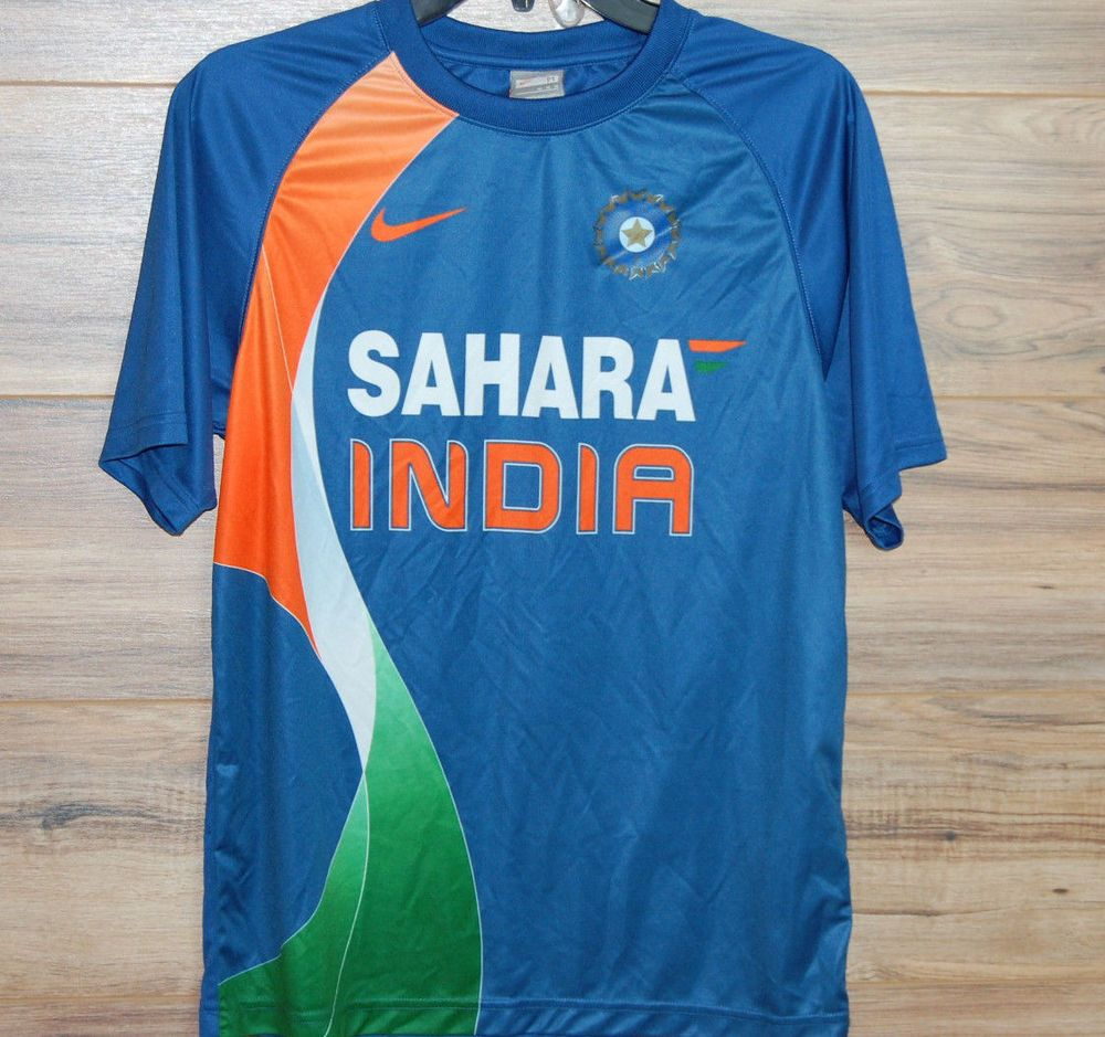 Nike India Cricket Sahara 2011 World Cup Winners Jersey Size Medium M Nike Under Armour Outfits Shirts Jersey