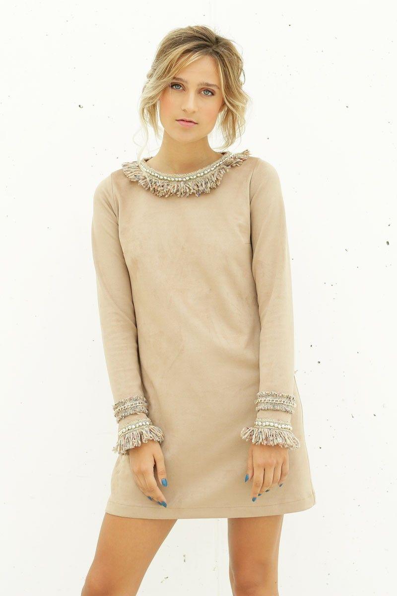 Vestido beige invierno