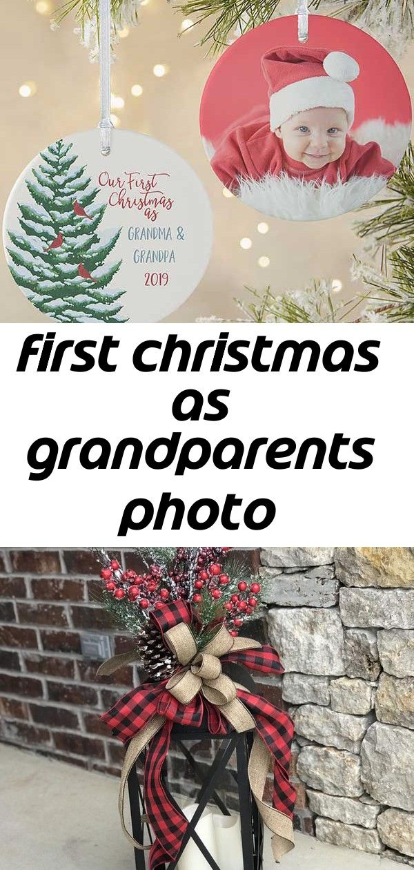 First christmas as grandparents photo ornament 5 #grandparentphoto