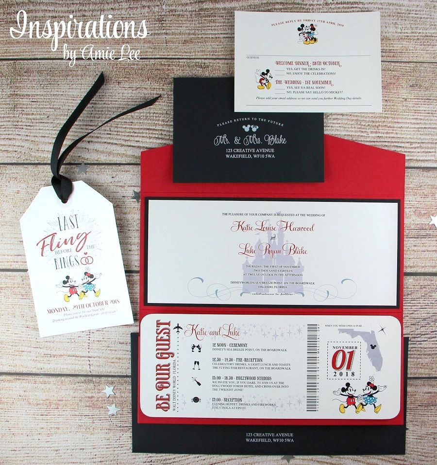 Disney Wedding Invitations, Boarding pass invitation, Disney Wedding ...