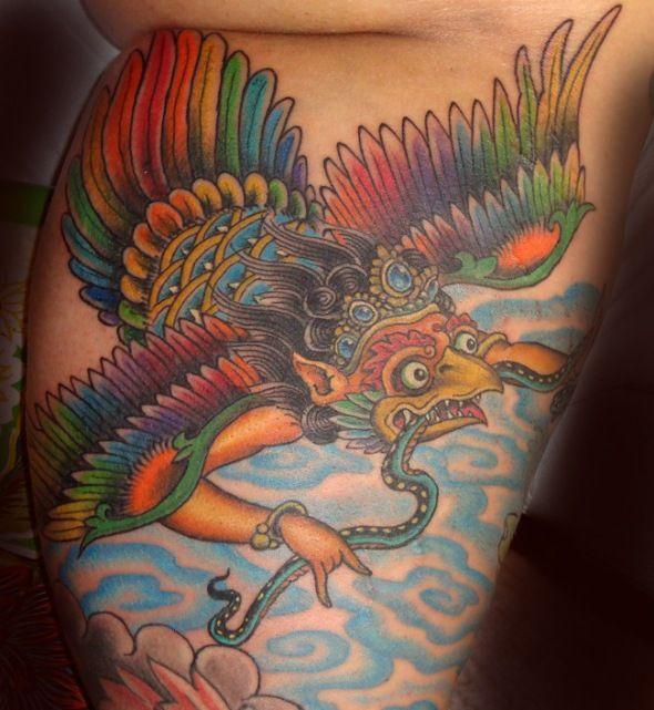 garuda tattoo by jason lambert tattoos flash pinterest tattoo tatting and tatoo. Black Bedroom Furniture Sets. Home Design Ideas