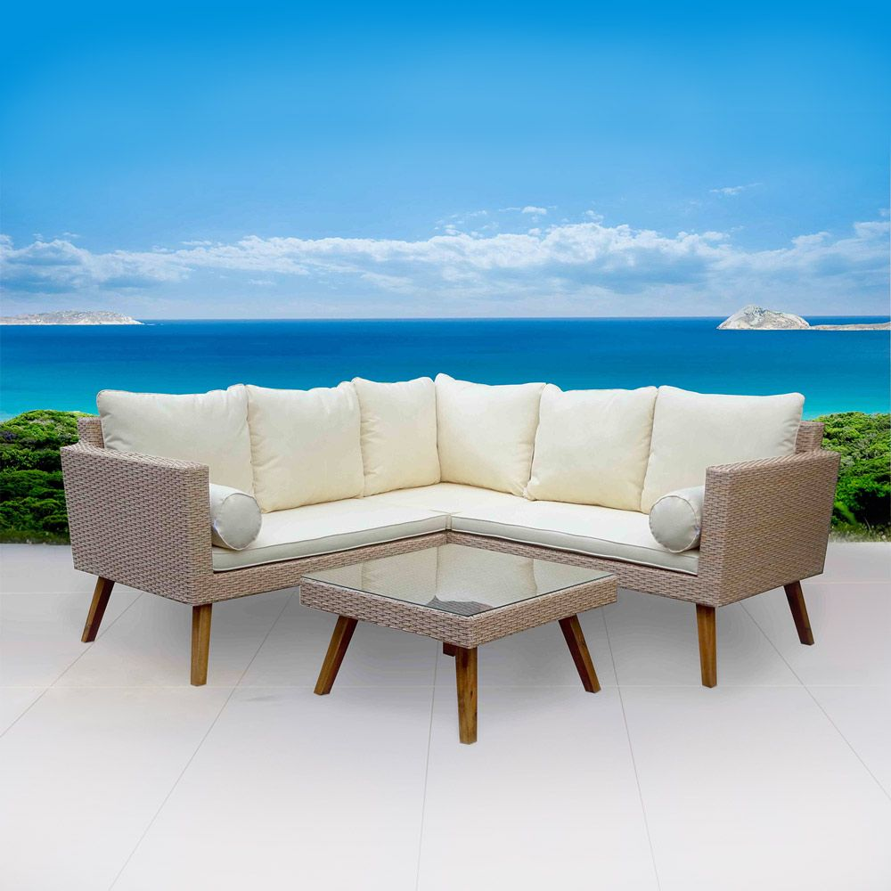 Magnificent Anguilla 5 Seater Wicker Timber Outdoor Corner Sofa Home Home Remodeling Inspirations Genioncuboardxyz