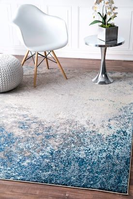 Chroma Abstract Seascape Blue Rug