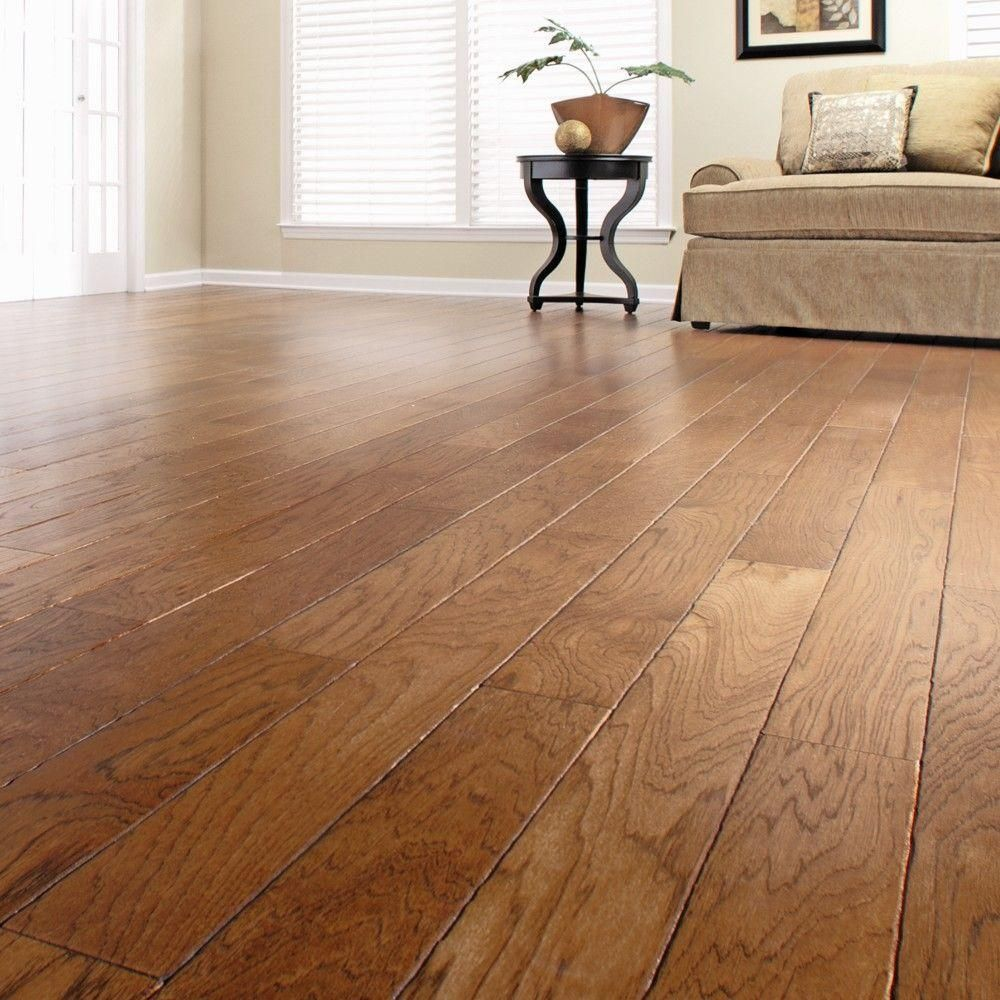 Engineered Hardwood Flooring In Kitchen Heritage Mill Artisan Hickory Sepia 3 8 In X 4 3 4 In Wide X