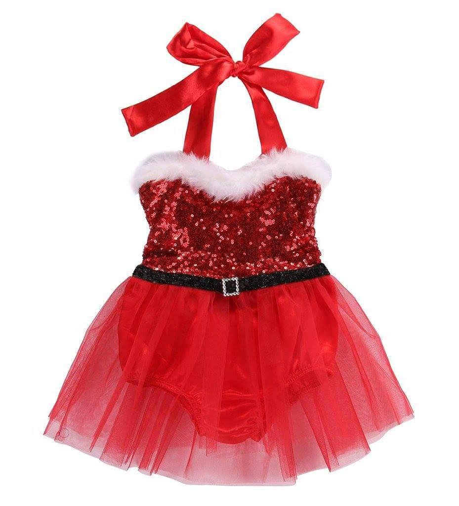 Girls Mrs Claus Costume Santa Baby Tutu Xmas dress Holiday dress Pageant dress Christmas tutu Christmas tutu outfit Mrs.Clause tutu