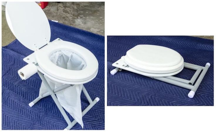 Photo of Screw an old toilet seat to a piece of plywood to make it into a portable …