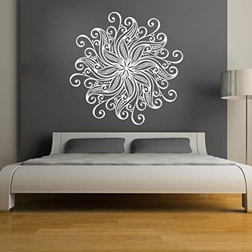 Zen Bedroom Wall Decor : Mandala wall stickers decals indian pattern yoga oum om