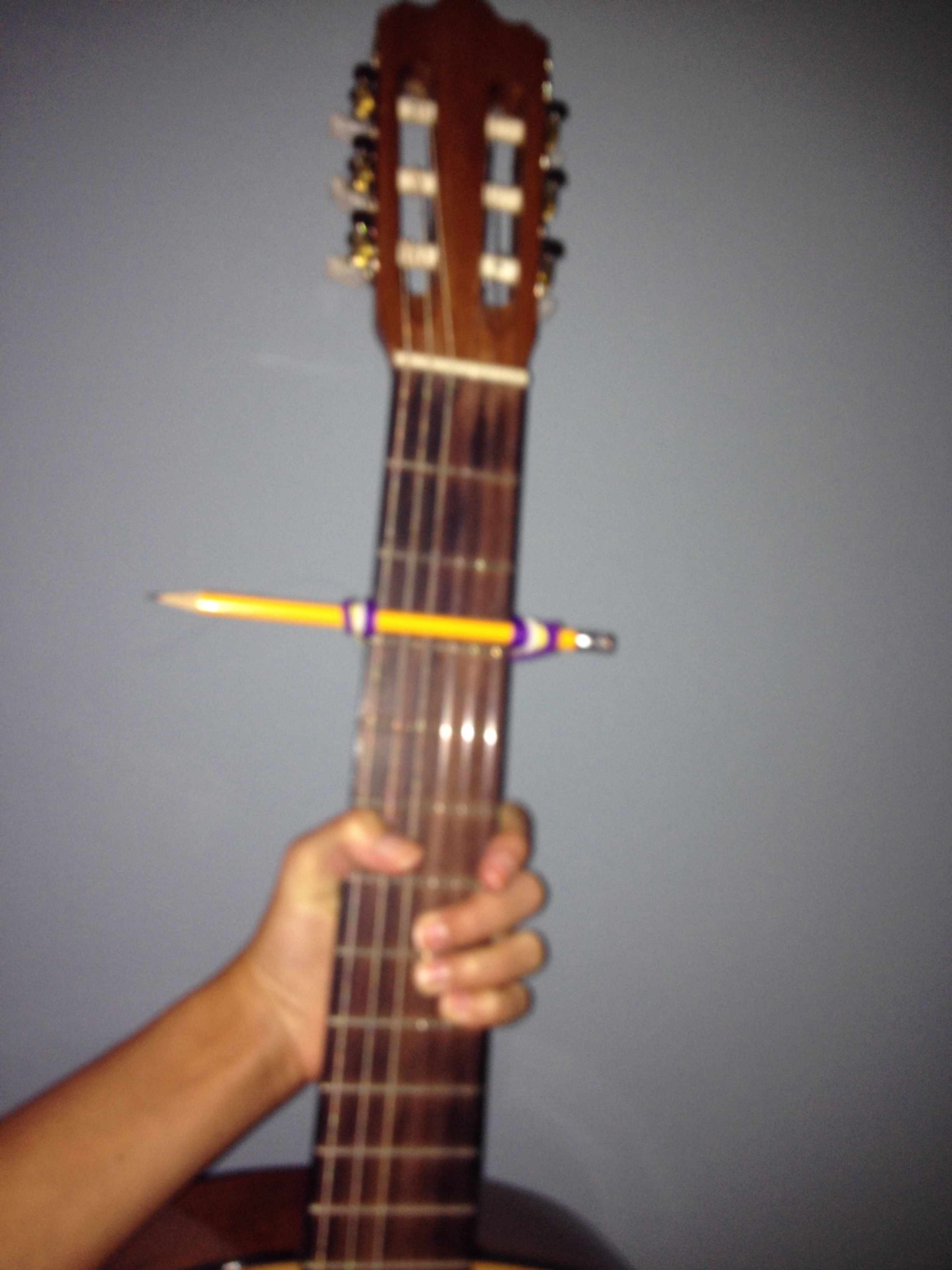 Diy Capo For Guitar Ok So I Just Ordered A Capo Off Amazon For 2