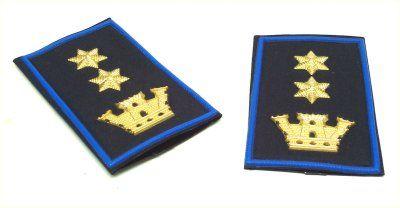 Polizia Municipale - Regione Sicilia - Coppia di Gradi tubolari - Dirigente (Codice: 90046131)