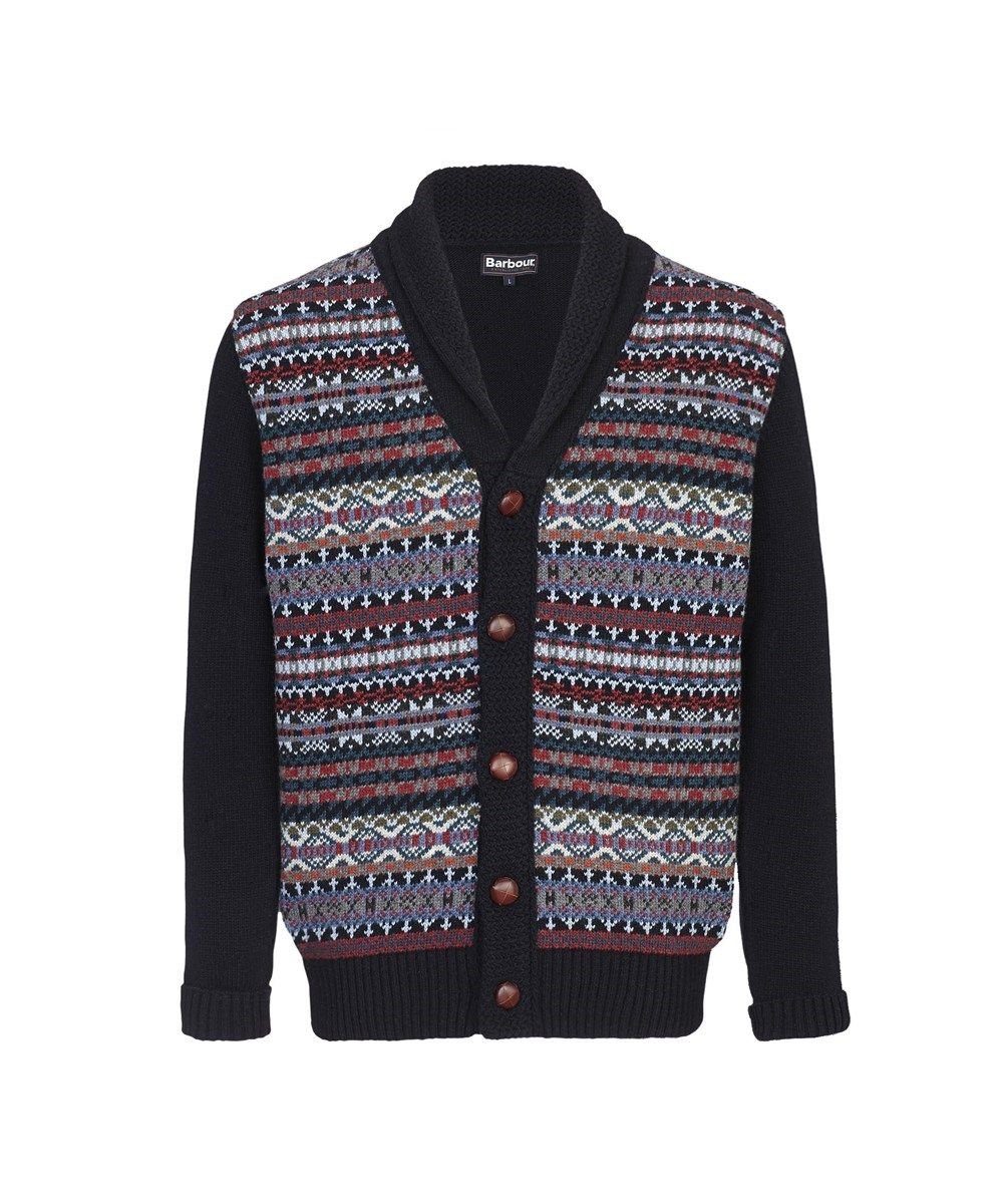 d891b330a5d7 Barbour Martingale Lambswool Shawl Neck Cardigan Sweater - Navy ...