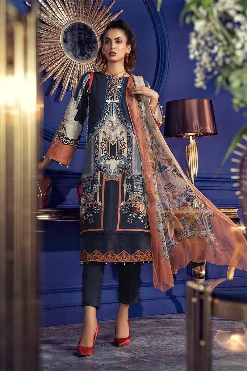 Latest Maria B Winter Printed Dresses Collection 2020-2021 ...