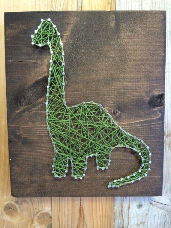 Dinosaur String Art - String Art - Dinosaur Decor - Dino Sign ...