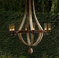Outdoor wine barrel chandelier - Restoration Hardware