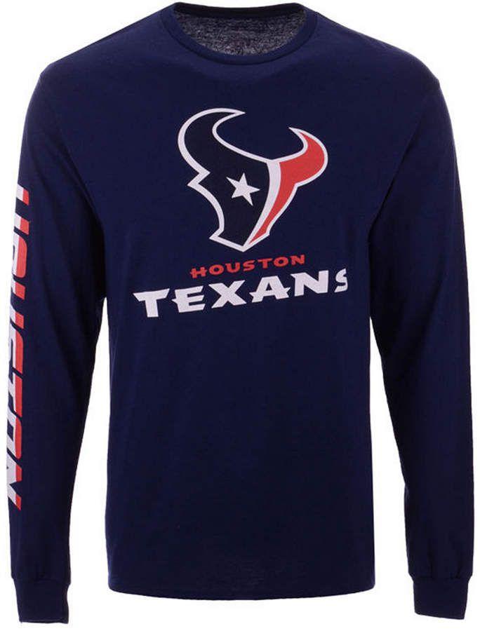 41dd6794d Authentic Nfl Apparel Men's Houston Texans Streak Route Long Sleeve T-Shirt