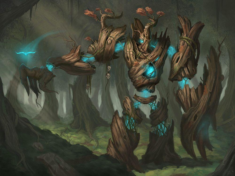 Artstation Tree Golem Concept Hunter Gage General Reference