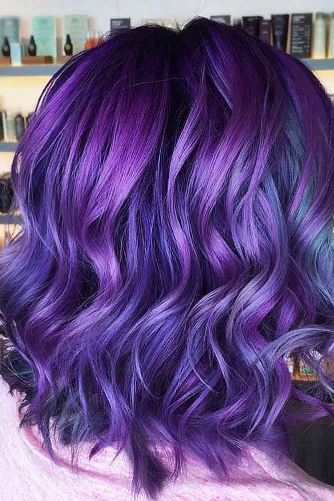 55 Fabulous Rainbow Hair Color Ideas Lovehairstyles Com Brunette Hair Color Hair Color Purple Rainbow Hair Color