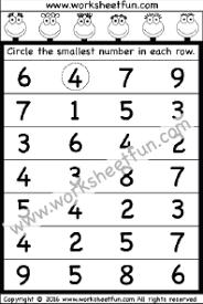 Image result for circle the biggest number worksheet for ukg ...