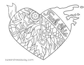 free printable swear word coloring page - Free Printable Swear Word Coloring Pages