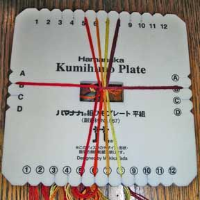 Everything for Kumihimo: free braiding plate instructions