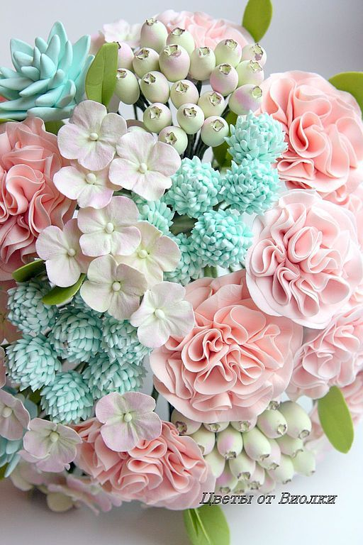 Мастер-классы по лепке цветов из полимерной глины 11