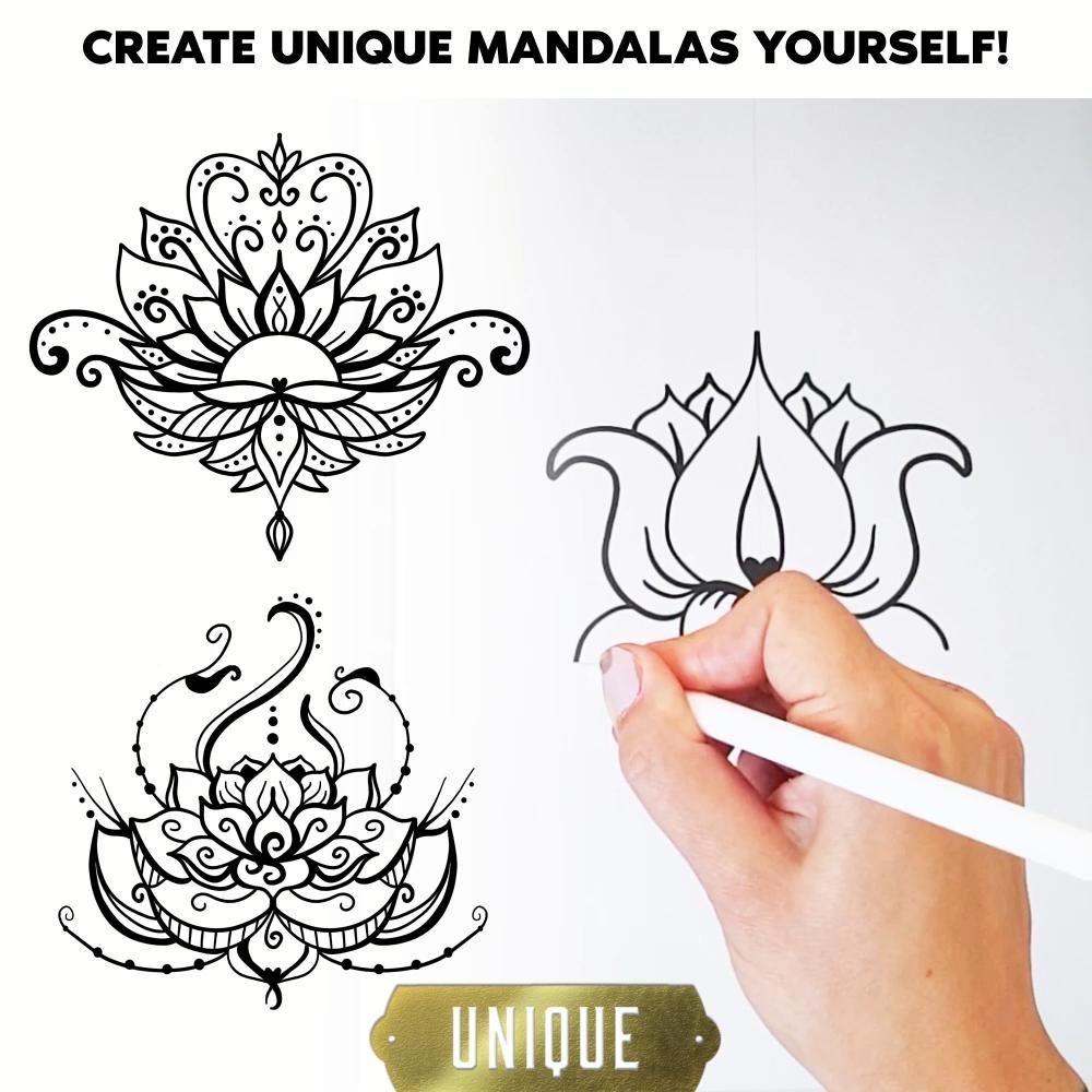 How to Draw Complex Lotus Mandala Art