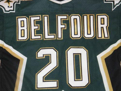 e89b18d16 Ed BELFOUR Dallas Stars NHL Hockey JERSEY CCM Made In CANADA Boys Small  Youth