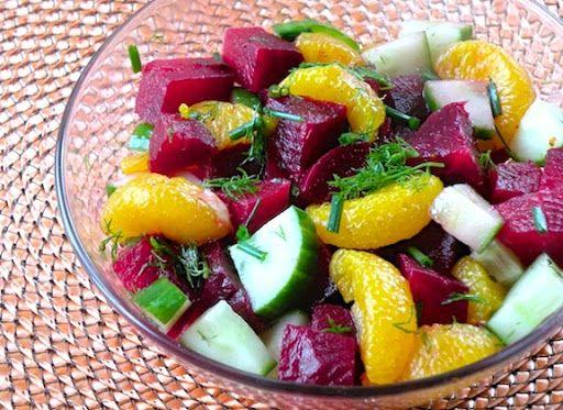 Beet, Cucumber, and Orange Salad