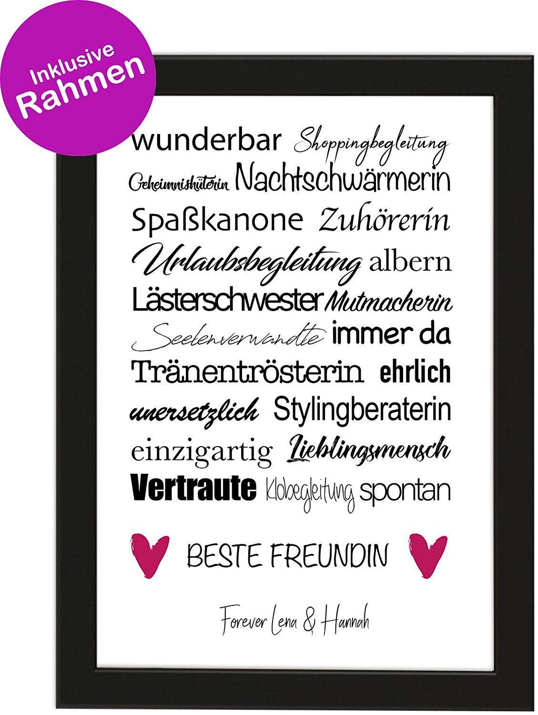 Personalisiertes Geschenk Die Beste Freundin Poster Din A4