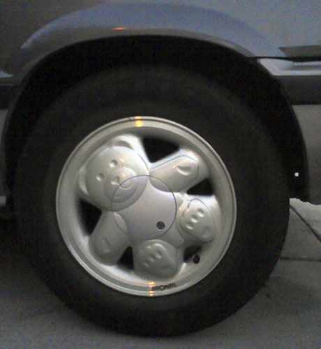 Teddy Bear Wheel Covers By Ronal On A 1984 Honda Civic The Belly