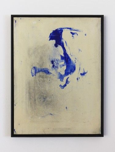 "Tiziano Martini ""Untitled"", 2012. Acrylic paint, graphite and watery resin-solution on cotton, artist frame. © Courtesy the artist"