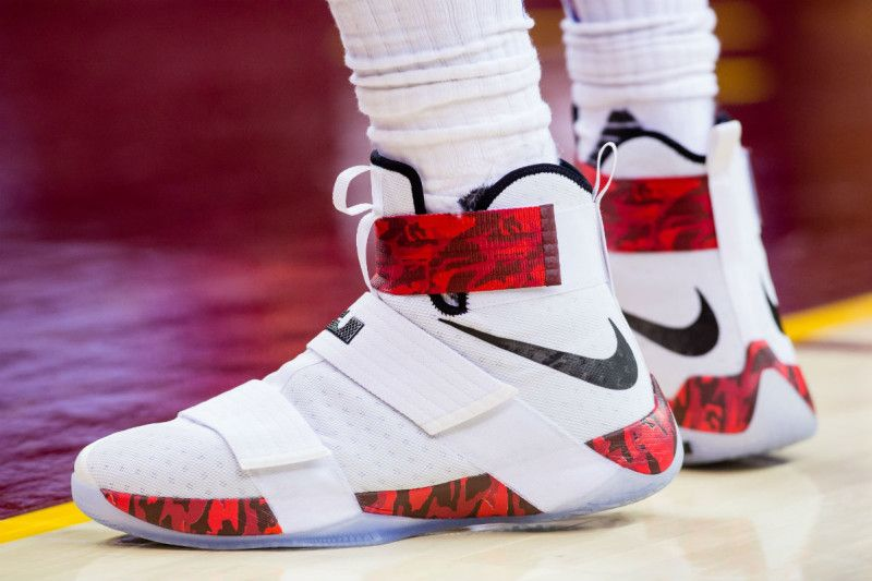 c886ea0323efc Red Camo Lands On LeBron's Latest Zoom Soldier 10s | Nike Free Shoes ...